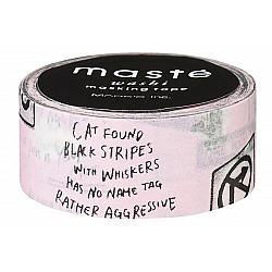 Mark's Japan Maste Washi Masking Tape - Street Sign (Limited Edition)