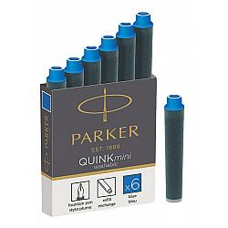 Parker Quink Mini Inktpatronen - Set van 5 - Blauw