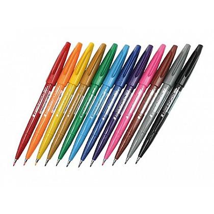 Pentel Touch Brush Sign Pen SES15C - Set van 12