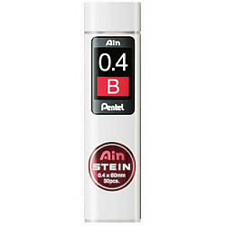 Pentel Ain STEIN C274-B Silicium Vulpotlood vulling - Etui van 30 - 0.4 mm - B