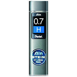 Pentel Ain STEIN C277-H Silicium Vulpotlood vulling - Etui van 40 - 0.7 mm - H