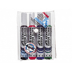 Pentel Maxiflo Whiteboard Marker - Rond - Medium - Set van 4