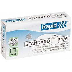 Rapid 24/6 Standard Nietjes - Gegalvaniseerd - Doosje van 1000