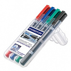 Staedtler Lumocolor Permanent Marker Duo 348 - Set van 4
