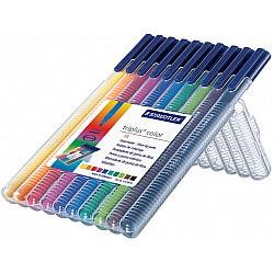 Staedtler Triplus Color 323 Driekantige Viltstift - Set van 10