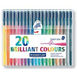 Staedtler Triplus Color 323 Driekantige Viltstift - Set van 20
