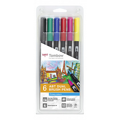 Tombow Dual Brush ABT (Set van 6) - Primary