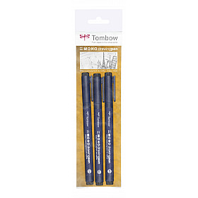 Tombow Mono Drawing Pen - Set van 3 - Zwart